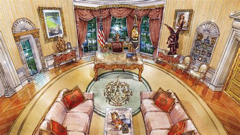 trump redecorated oval office cherubs marble and louis xiv what donald trump s oval