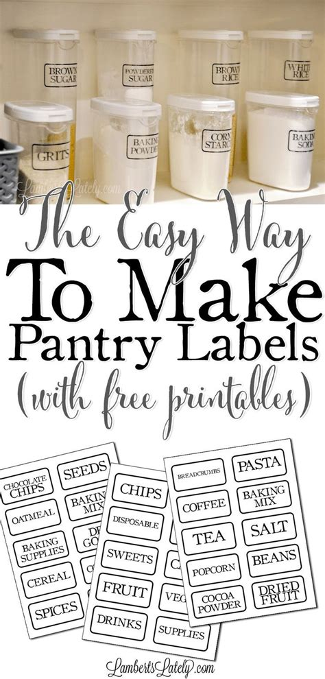 easy    clear pantry labels