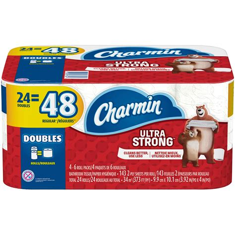 charmin ultra strong toilet paper  double roll