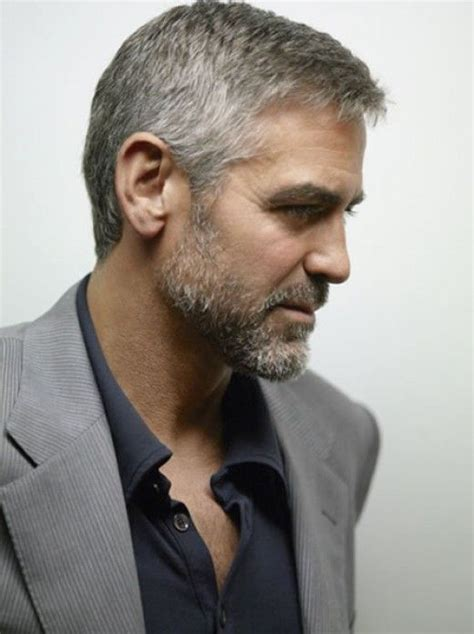 mature gentlemens hair styles george clooney s hairstyle simple and classy