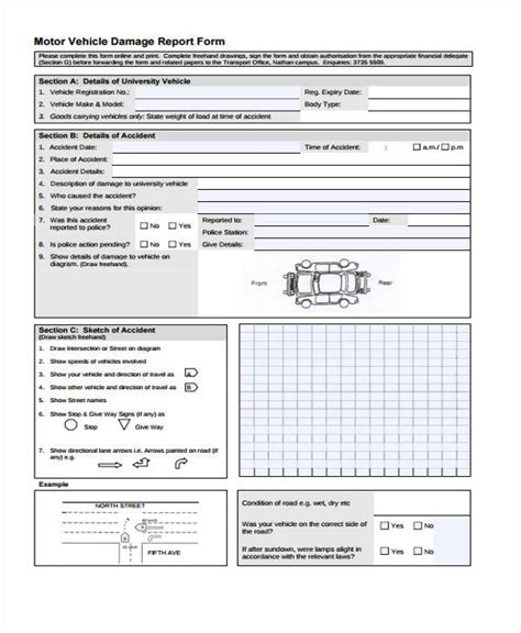 report template sle damage report form template 28 images damage report