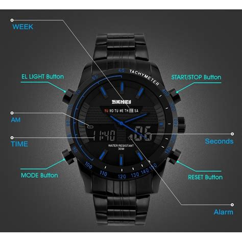 Fashion Pria Jam Tangan Dw 6900 Digital Black Rainbow skmei jam tangan analog digital pria ad1131 black jakartanotebook