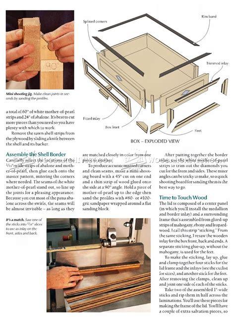 jewelry box plans woodarchivist