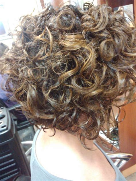 stacked permed hairstyle 25 unique curly stacked bobs ideas on pinterest short