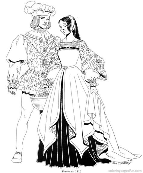 renaissance dress coloring page 17 best images about костюмы разных эпох on pinterest