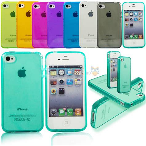 Apple Iphone 4 4s Soft Jelly Gel Silicon Silikon Tpu Ca Diskon ultra thin colorful transparent clear jelly tpu gel soft silicone cover protector for