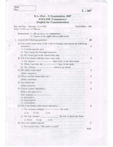 Bharathidasan Distance Education Mba Model Question Papers by Sle Model Question Papers Shivaji 2018