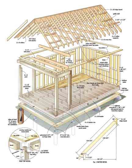 Two And A Half Men House Floor Plan build this cozy cabin diy mother earth news