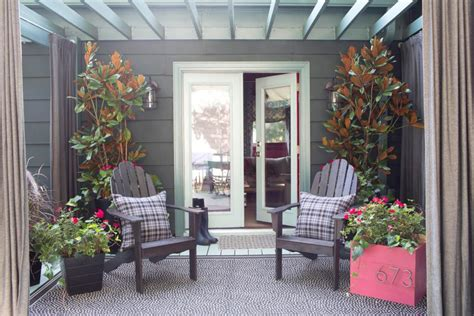 porch decoration fall porch decorating ideas hgtv
