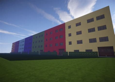 colorful apartments minecraft building