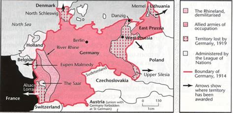 Outline The Non Territorial Terms Of The Treaty Of Versailles germany territorial changes