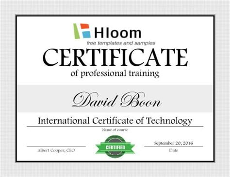 7 Training Certificate Templates Free Download Trainer Certificate Template