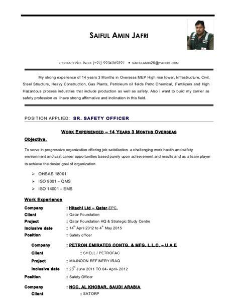 Safety Officer Skills Resume by Safety Officer Resume Resume Ideas