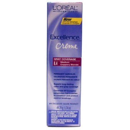 l oreal excellence creme permanent hair color medium coppery golden brown 8 43 1 74 oz pack l oreal excellence creme permanent hair color medium copper 8 4 1 74 oz walmart