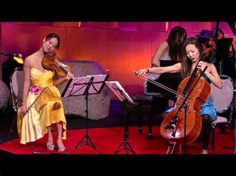 the ahn trio a modern take on piano violin cello