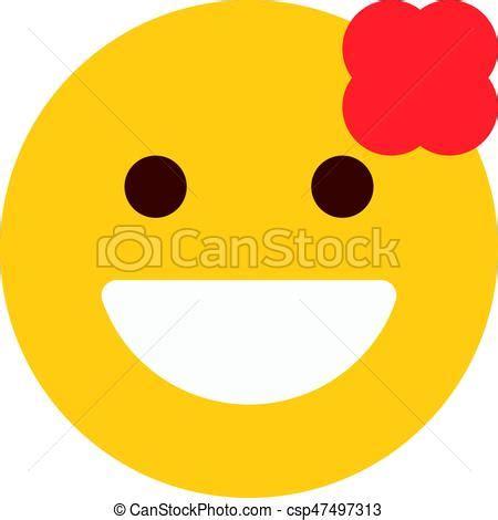 fiore clipart sorridente fiore emoji clip vettoriale cerca