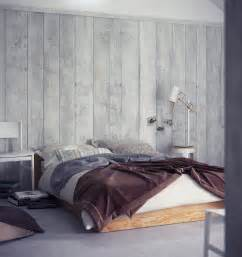 bedroom wall panel design ideas: wood wall panelling platform bed interior design ideas