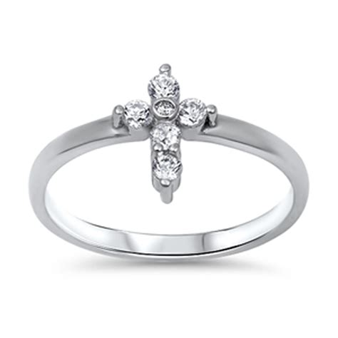 s cross white cz wholesale ring new 925 sterling
