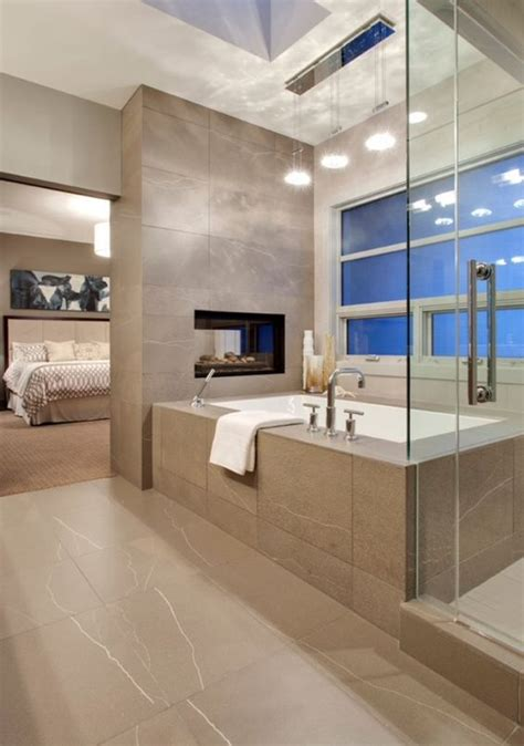 Fireplace In Bedroom And Bathroom Dual Fireplace Between The Bedroom And Bathroom But