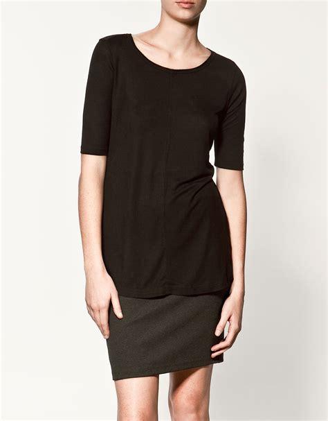 Zara Basic Shirt zara basic t shirt in black lyst
