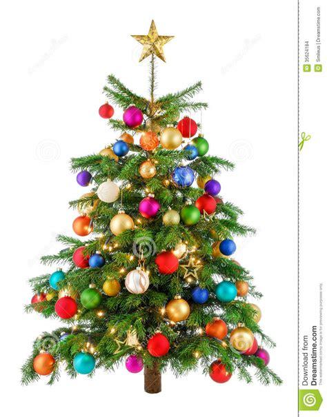 joyfully colorful christmas tree stock photo image of