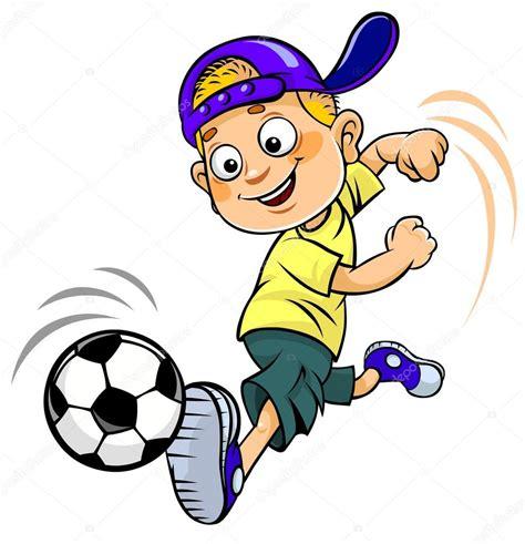 hombre de dibujos animados jugar futbol vector de stock ni 241 o de dibujos animados de futbol vector de stock