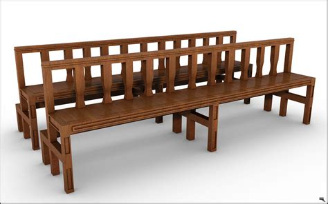 be bench model search be bench model search church bench model turbosquid 1166687