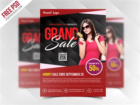 flyer templates free psd grand sale flyer template free psd psdfreebies