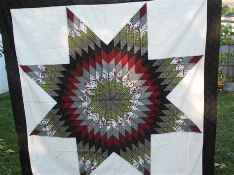 lone star quilt pattern queen size lone star quilt made using quiltsmart my quilting
