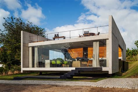 concrete houses plans modern concrete house with two separate elevated buildings