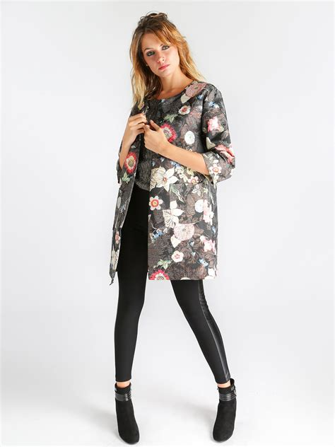 giacca a fiori giacca lunga primaverile donna giacca leggera a fiori ebay