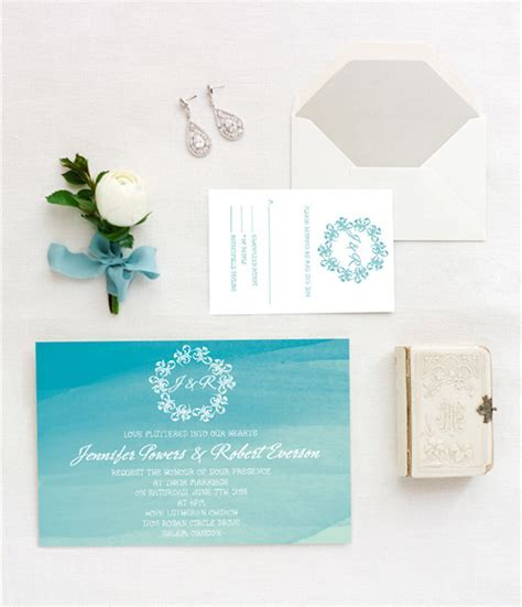Top 10 Watercolor Wedding Invitations Of 2015 Trends