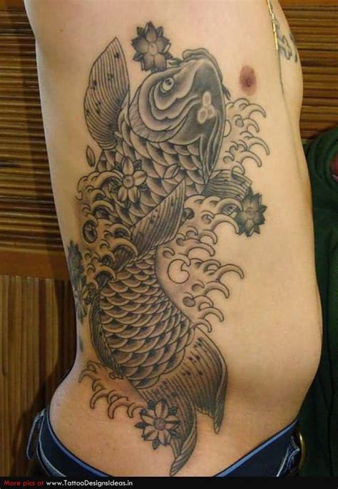 koi tattoo on ribs koi fish dragon tattoo color meaning for men