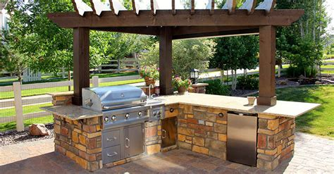 patio bbq designs cheap kitchen ideas for small kitchens 4