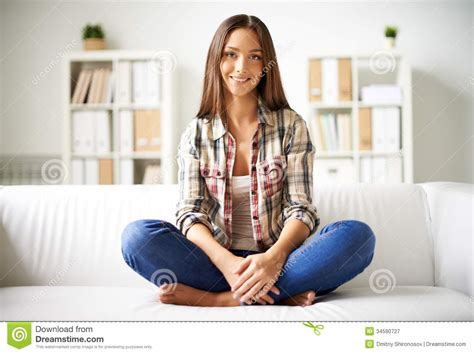 girls on couch girl on sofa royalty free stock photography image 34590727