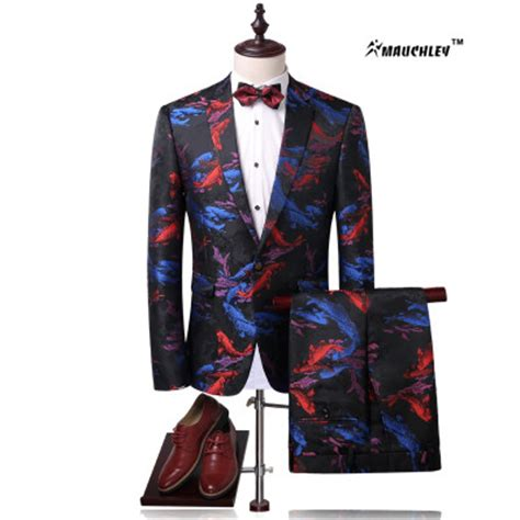 colorful tuxedos modern slim fit colorful floral suits tuxedo korean 2