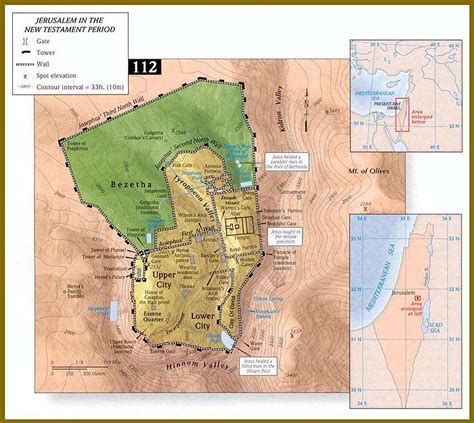 map of new testament jerusalem the time gospel ministry bible charts and maps