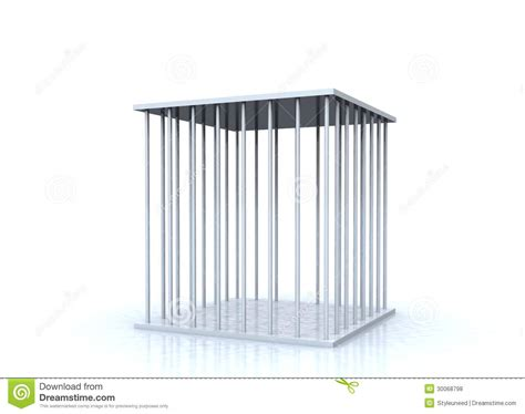 metal cage empty metal cage stock illustration image of cell captivity 30068798