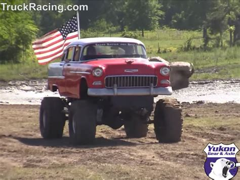 monster truck show green bay video mudding in a bel air monster truck or classic