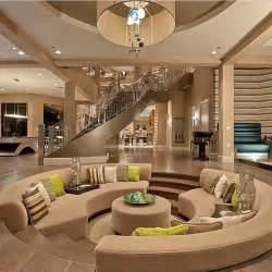 beautiful modern mansion interior beige brown and