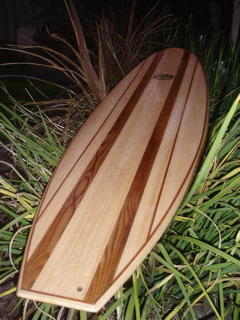 Handmade Wooden Surfboards - my husbands handcrafted wooden surfboard sleds
