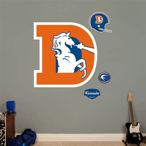 Denver Broncos Birthday Card Template by Denver Broncos Classic Logo Wall Decal Shop Fathead 174 For