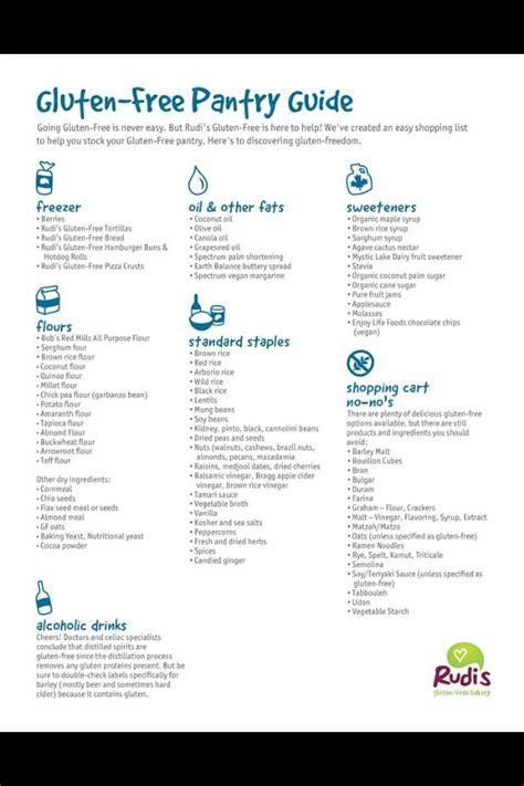 Gluten Free Pantry List by 17 Best Ideas About Gluten Free Shopping List On