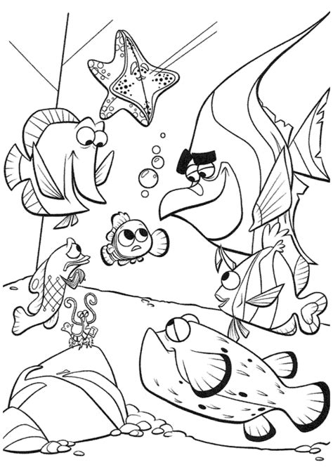 bloat finding nemo coloring page coloring pages of finding nemo az coloring pages