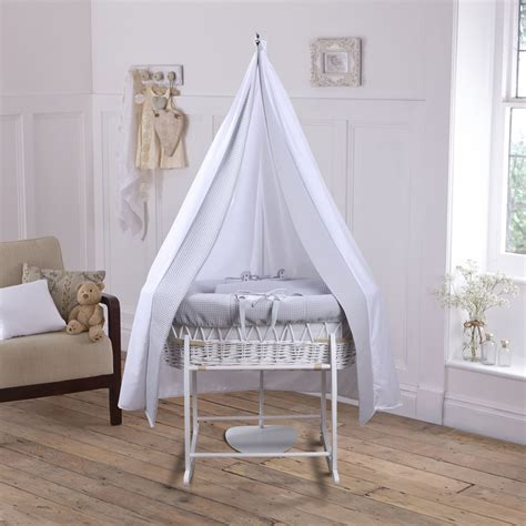 moses basket with drapes create a beautiful nursery with the waffle 6 piece moses