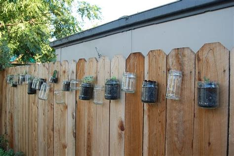 fence hanging planters project practice weddingbee