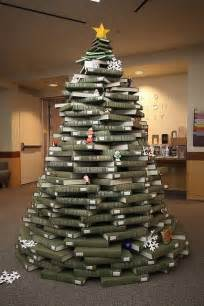 christmas by the book a tree created entirely out of books