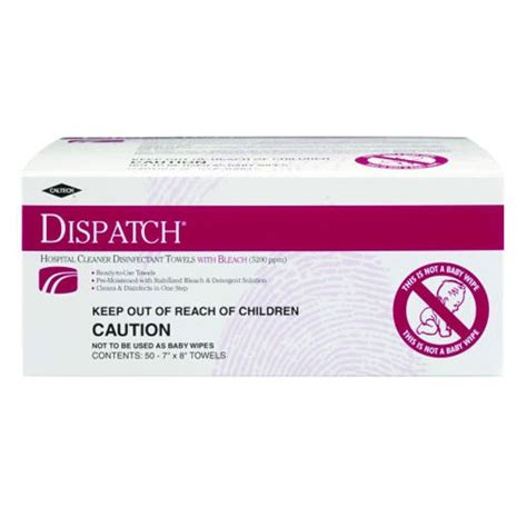 clorox caltech dispatch pro disinfectant wipes  wipe packs skuclo