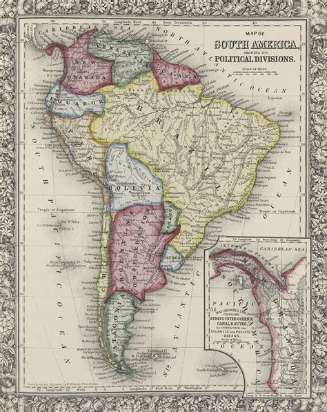 south america map dwg map of south america drawing by samuel augustus mitchell