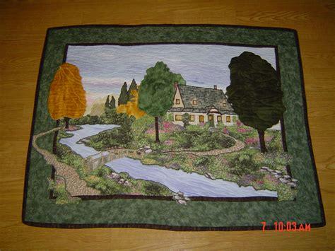 Landscape Quilt Images Landscape Quilt Patchwork Quilt Applique
